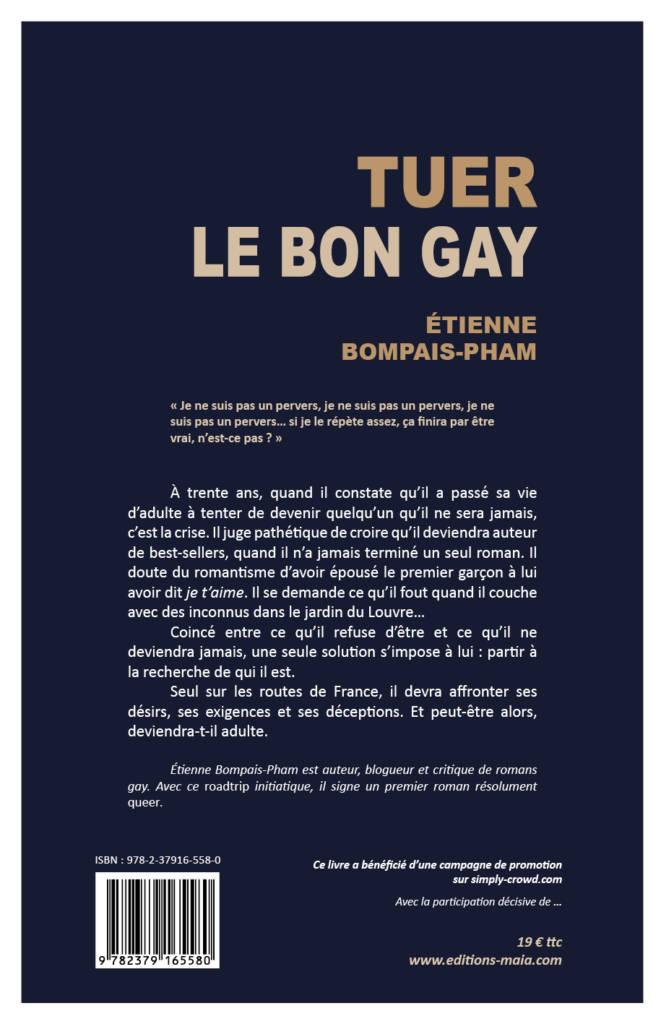 """Quatrième de couverture du roman """"Tuer le bon gay"""""""
