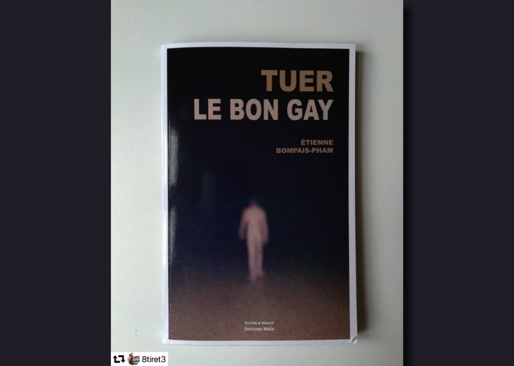 """Photo Instagram du roman """"Tuer le bon gay"""""""