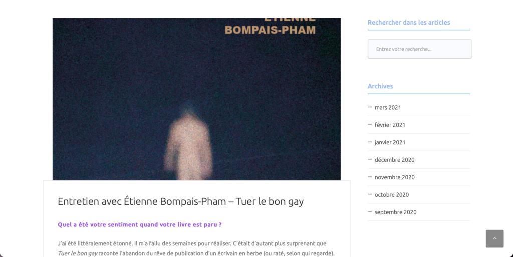 """Interview de """"Tuer le bon gay"""" pour Simply Crowd."""